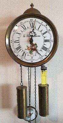 Jewellers Wall Clock 8 Day Comtoise Style Hermle 1976 Bell Strike By Pendules