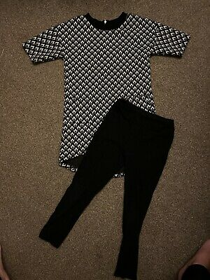 Girls Leggings And Long Top Dress Set By TU Age 7 Yrs