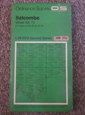 Salcombe  -  Ordnance Survey  Map ,  Sheet Sx 73  ,  1968