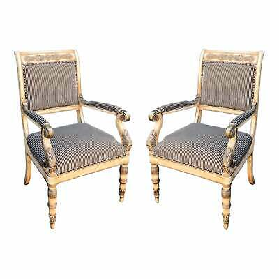 Pair of Charles Pollock for William Switzer Russian Imperial Arm Chairs