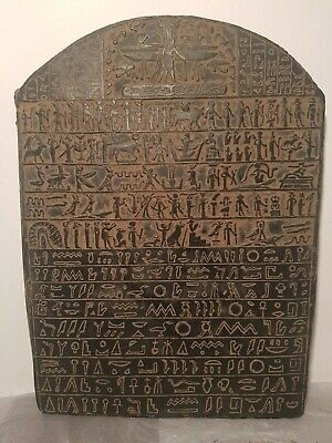 Rare Antique Ancient Egyptian Stel Holy Book Sacred Words Pray God 1740-1670BC