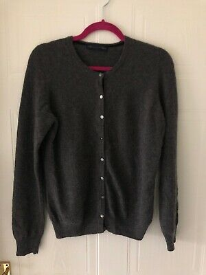M&S Collection Pure Cashmere Charcoal Grey Cardigan UK12