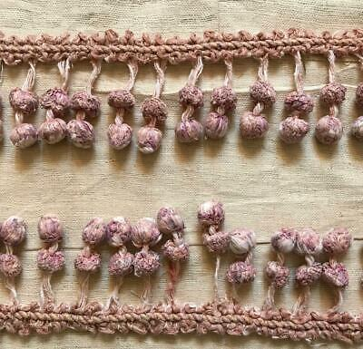 1.07m BEAUTIFUL EARLY 19th CENTURY FRENCH COTTON BALL PASSEMENTERIE 406