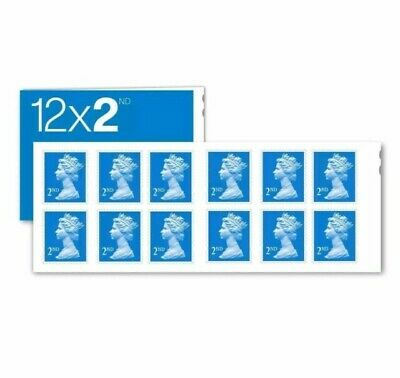 100 NEW 2ND Second Class Royal Mail Postage Stamps(100 % Genuine)