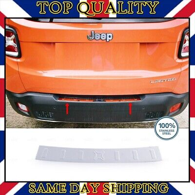 For Jeep RENEGADE Chrome Rear Bumper Scratch Protector S.STEEL 2014 onwards