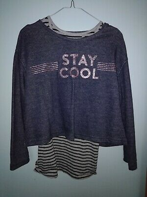 Girls Next two piece sweatshirt set age 12 in blue and grey