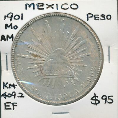 Mexico 1901 Mo AM 8 Reales KM-409.2 Circulated in China EF