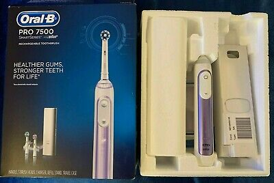 Oral-B Pro 7500 Power Rechargeable Electric Toothbrush By Braun, Purple Orchid