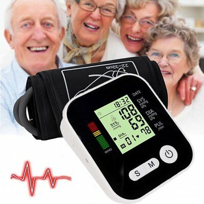 Voice Digital Automatic Blood Pressure Monitor Upper Arm Style Free Postage ZG