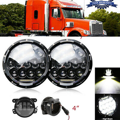A0621641001 Freightliner Century 96-05 Inner Clear Head Light Pair A0621641000