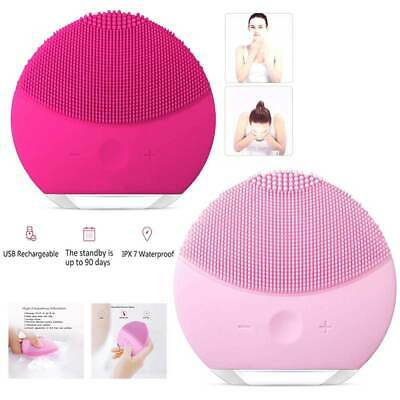 Silicone Electric Face Cleansing Brushes Facial Skin Cleaner Cleaning Massager