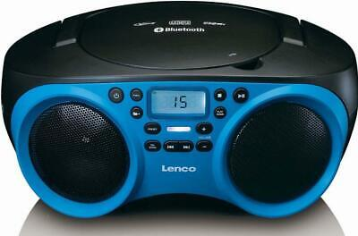 4 Stück Lenco Radio CD/MP3 SCD-501 Blue/Black blau/schwarz Radios Radio