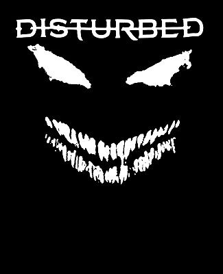 Disturbed Rubber Room Asylum Scary Face Black T Shirt New Official Band