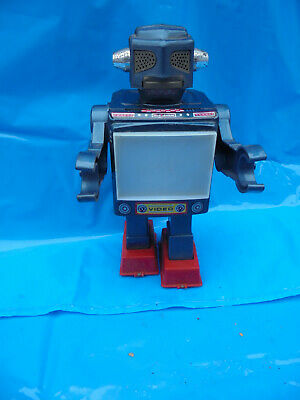 31988 Vintage Robot tin Video Roboter Blech Japan blau blue