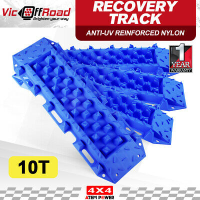 ATEM POWER Recovery Tracks Sand 10T With Carry Bag Offroad 2Pairs Blue 4WD