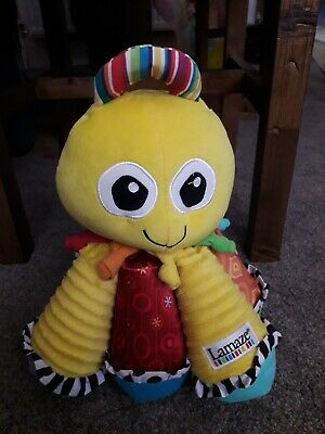 LAMAZE Yellow OCTOTUNES Octopus musical BABY sensory tags soft toy - Large Plush