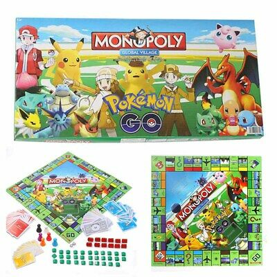 HOT Pokemon Monopoly Monster Pikachu Family Board Game Party Toys Xmas Gifts