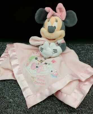 Disney Store Pink Minnie Mouse Baby Comforter Plush/Soft Toy Blanket