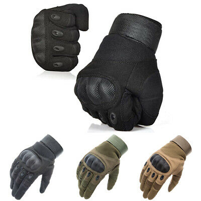 Tactical Hard Knuckle Full Finger Gloves Military Police Special Forces Mittens