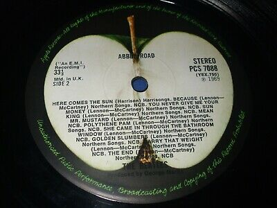 THE BEATLES ABBEY ROAD MISALIGNED APPLE NO HER MAJESTY 1st PRESS