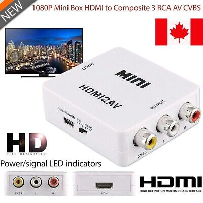 New Composite HDMI To AV/RCA CVBS Audio Video Converter Adapter HD 720p 1080p