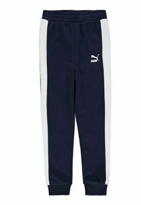 Puma Classic Tracksuit Bottoms Pants Joggers Navy Boys UK13-14 Years *REF111*