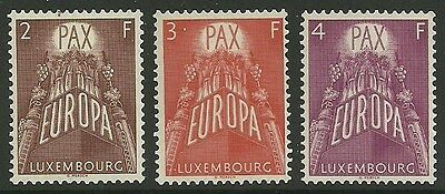 Luxembourg Sg626/8 1957 Europa Mnh
