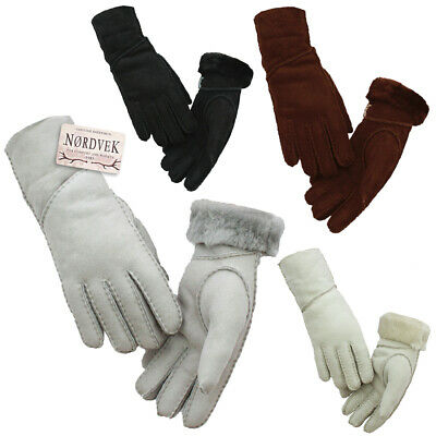 Nordvek Ladies Premium Genuine Sheepskin Gloves Super Soft Womens Winter Glove