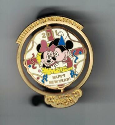 Disney DCL Cruise Christmas 2010 New Year 2011 Mickey Minnie Spinner Pin Le 1000
