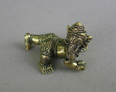 """Small Brass Baby Ganesh Statue for Hindu Practice 1"""" High"""