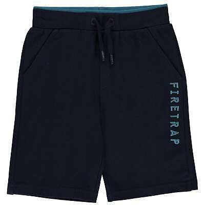 Firetrap Pique Shorts Youngster Boys Fleece Pants Trousers Bottoms Lightweight