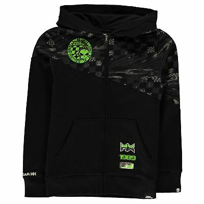 No Fear Zip Hoodie Youngster Boys Hoody Hooded Top Full Length Sleeve Zipped