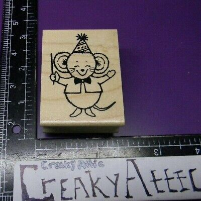 Mouse Director Music Conductor Rubber Stamp Great Impressions E525 Creakyattic