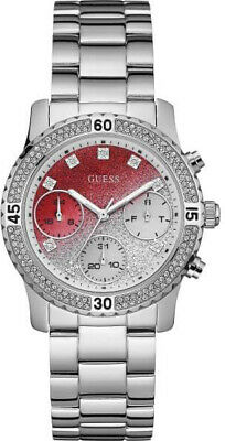 GUESS W0774L7 CONFETTI Red Dial Stainless Steel 38mm Women's