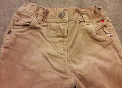 Girls next cute bunny 2-3 years beige corduroy trousers,red love heart on pocket