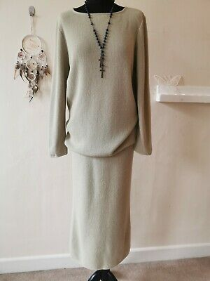 SPIRIT OF THE ANDES Stunning, Heavy 100% Alpaca Knit Tunic with Skirt Size S M