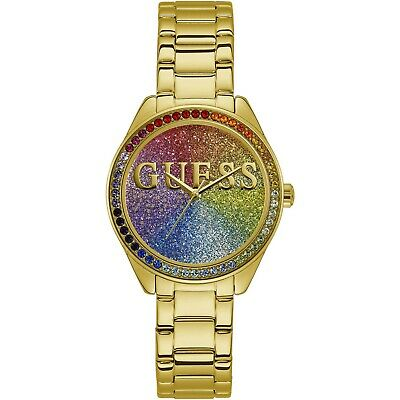 Guess W0987L5 Gold Tone Rainbow Dial 36mm Women's Watch