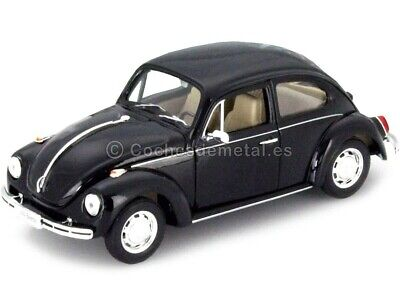 1959 Volkswagen VW Kafer Hard Top Negro 1:24 Welly 22436