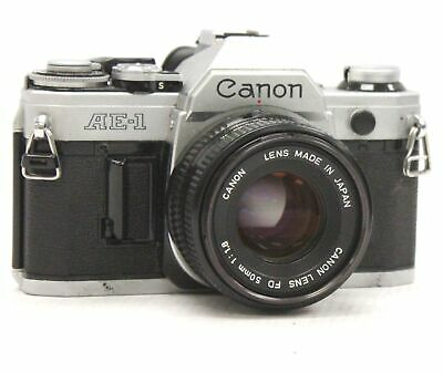 CANON AE-1 SLR Camera With Canon 50mm f/1.8 FD Mount Camera Lens  - B18