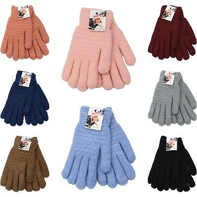 Womens Wool Gloves Winter Warm Knitted Gloves Very Warm for the Winter
