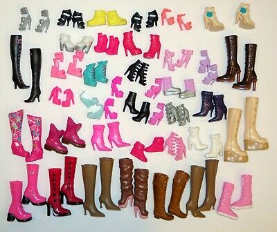 * Barbie Doll Shoes Lot Of 38 Pairs ** All Matches ** My Scene Fashion Fever