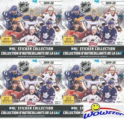 (4) 2019/20 Topps Hockey MASSIVE 50 Pack Factory Sealed Sticker Box-1000 Sticker