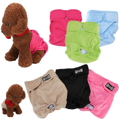 3Pack Super Absorbent Female Dog Diapers LEAK PROOF Waterproof Washable for Pet