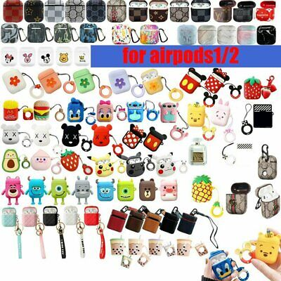 Cute Cartoon Silicone AirpOD Protective Case Cover Skin For Apple AirpODs 1 2 IN