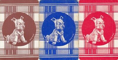 Vintage Swap Playing Cards - 3 Single - Scottie Dogs #2