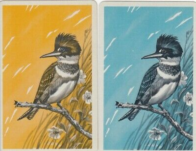 Vintage Swap Playing Cards - 2 Single - Birds - #1