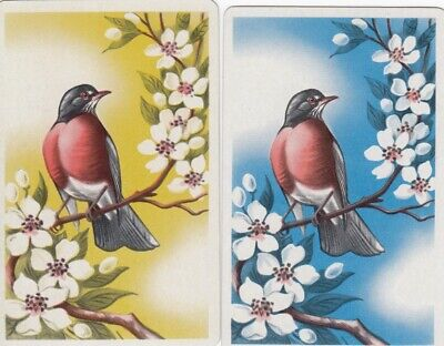 Vintage Swap Playing Cards - 2 Single - Birds - #2
