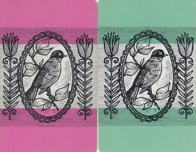 Vintage Swap Playing Cards - 2 Single - Birds - #11