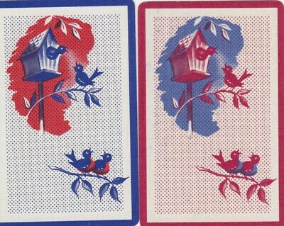 Vintage Swap Playing Cards - 2 Single - Birds - #21