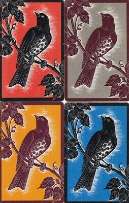 Vintage Swap Playing Cards - 4 Single - Birds - B